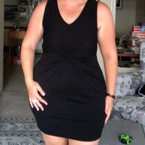 Twist front Forever 21 black dress 1X